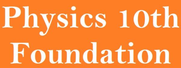 Physics Foundation Course-10th cover