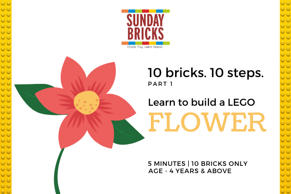A LEGO Flower in 10 Easy Steps! cover