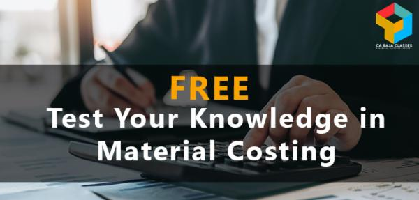 Test Your Knowledge in Material Costing cover