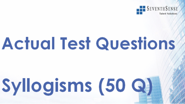 Syllogisms Practice Test cover