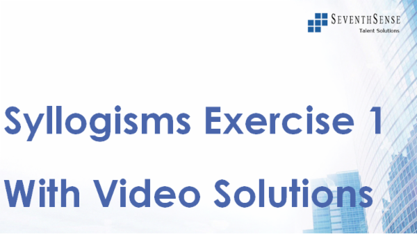 Syllogisms Practise Exercise 1 (With Video Solutions) cover