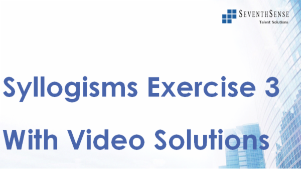 Syllogisms Practise Exercise 3 (With Video Solutions) cover