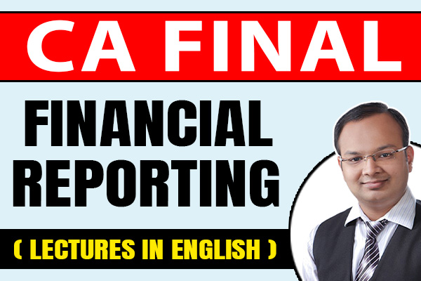 Financial Reporting (In English) : CA Final cover