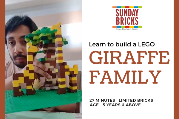Build a LEGO Giraffe cover
