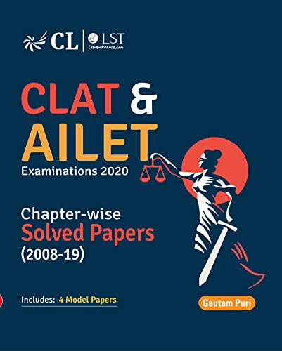 CLAT & AILET Chapter Wise Solved Papers 2008-2019 cover