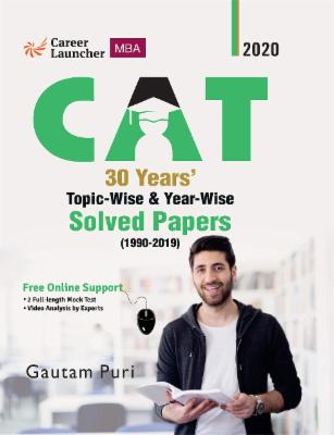 CAT 2020 30 Years Topic-wise & Year-wise Solved Papers 1990-2019 cover