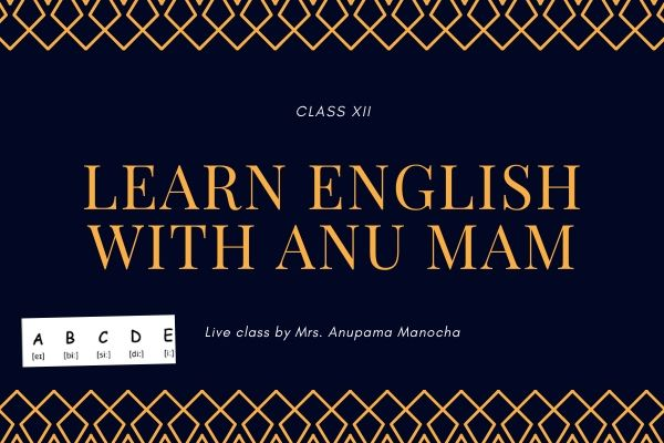 Learn English with Anu Mam (Class xii) cover