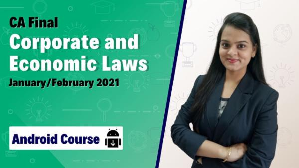 CA Final Corporate and Economic Laws New Course Nov 2020 | Mobile App cover