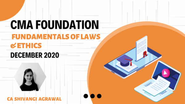 CMA Foundation Fundamentals of Laws & Ethics For Dec 2020 cover