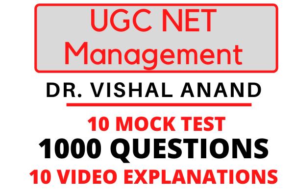 UGC NET Management Mock Test cover