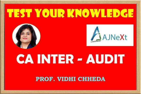 CA INTER - AUDIT - TEST YOUR KNOWLEDGE cover
