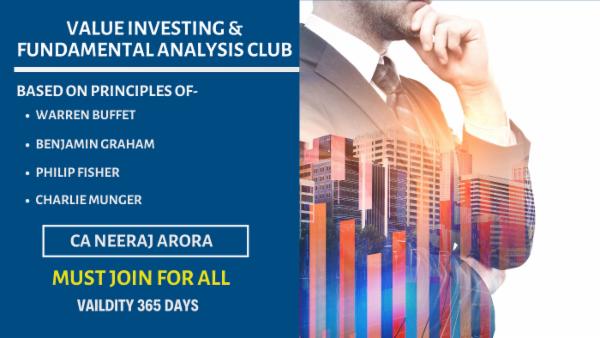 Value Investing Club By Neeraj Arora cover