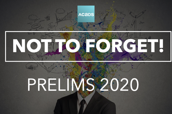 Not to Forget! [Prelims 2020] cover