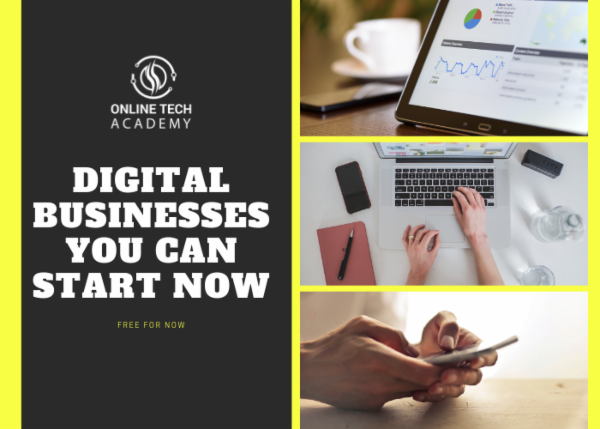 Digital Businesses You can Start Now cover