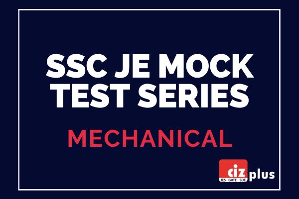 SSC JE Mock Test Series (Mechanical) cover