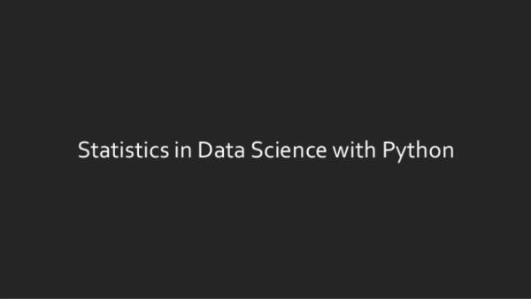 Learn Python and Statistics for Data Science cover