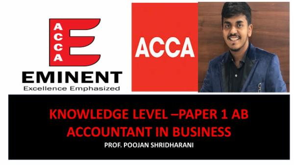 ACCA - Knowledge Level - Accounting & Business cover