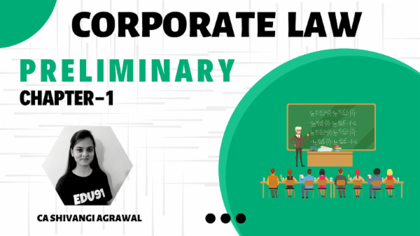 CA Inter Corporate Law Preliminary for Nov 2020 cover