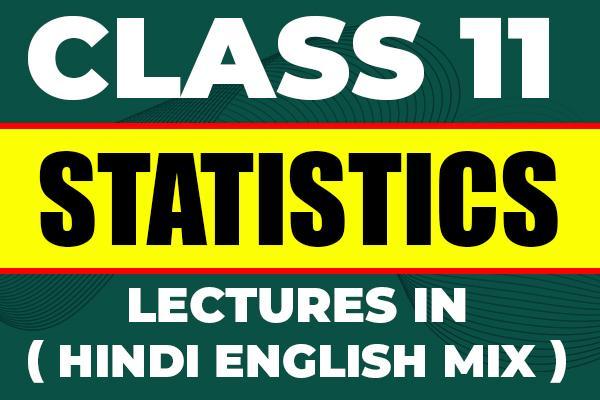 Statistics : Class 11 cover