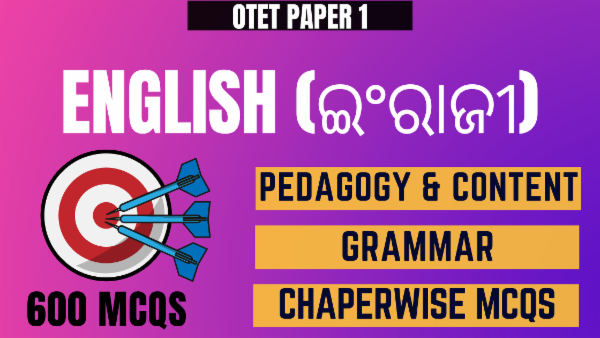 Language English - Pedagogy & Content for OTET Paper 1 cover