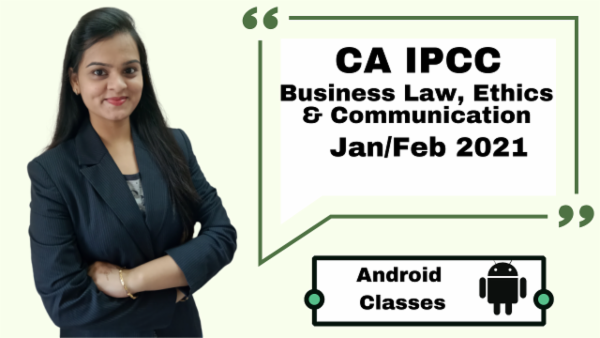 CA IPCC Business laws, Ethics & Communication Full Course - Android App - Nov 2020 cover