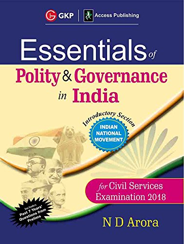 Essentials of Polity & Governance in India Civil Services Examination 2018 cover