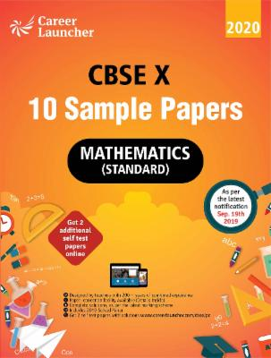 CBSE 2020 : Class X - 10 Sample papers - Mathematics cover