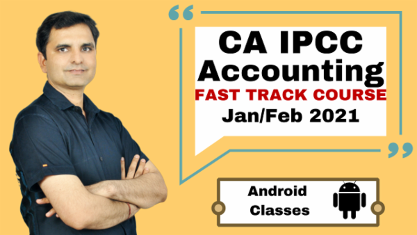 CA IPCC Accounting Fast Track Course - Android App - Nov 2020 cover