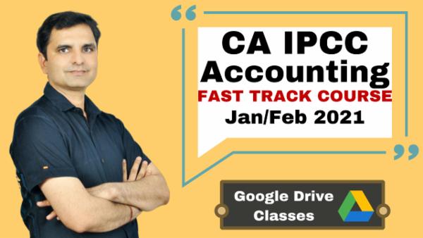 CA IPCC Accounting Fast Track Course - Google Drive - Nov 2020 cover