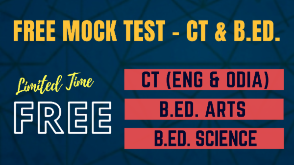 Free Odisha CT B.Ed. Mock Test cover