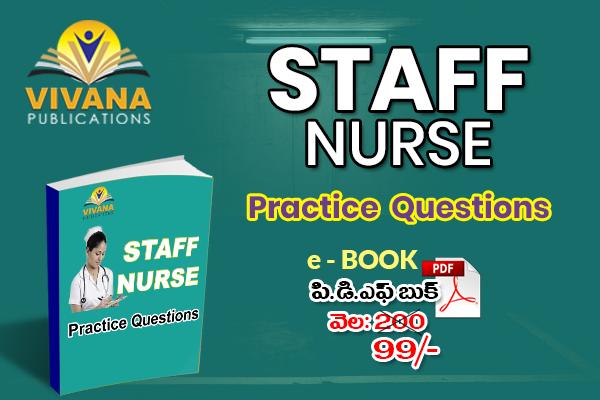 Staff Nurse Practice Questions | Vivana Publication cover