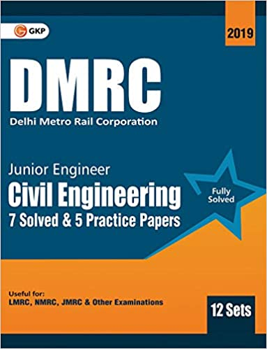 DMRC 2019 : Junior Engineer Civil Engineering Previous Years' Solved Papers (12 Sets) cover