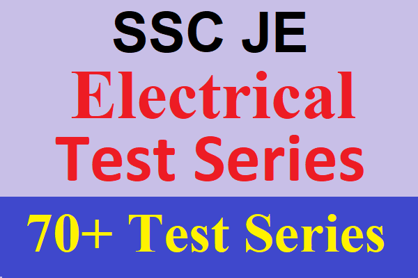 Best Online Test Series for SSC JE Electrical Engineering, SSC JE 2020 Electrical Test Series cover