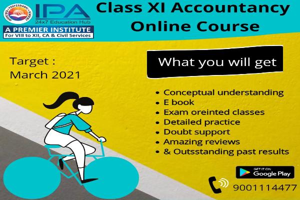Class XI - Accountancy cover