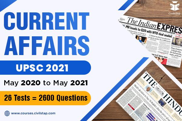 Parishram - Current Affairs Test Series - UPSC 2021 cover