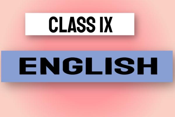Class IX English cover