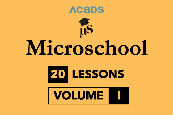 Microschool Volume I cover