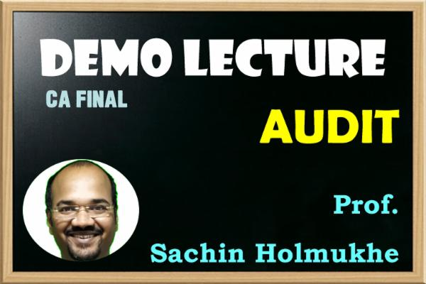 CA FINAL - AUDIT - SAMPLE LECTURES cover