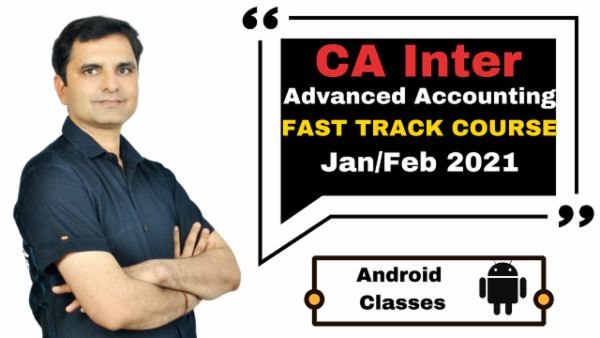 CA Inter Advanced Accounting Fast Track Course - Android App - Nov 2020 cover