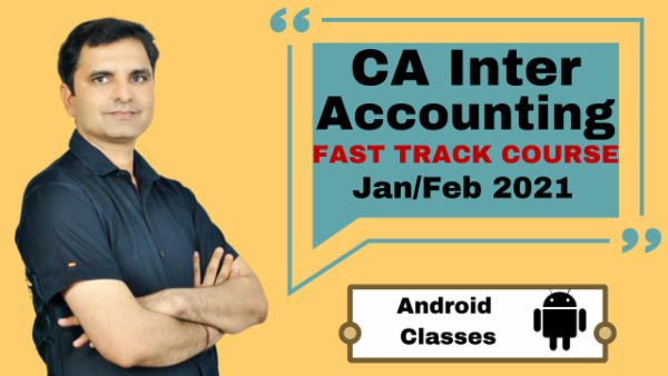 CA Inter Accounting Fast Track Course - Android App - Nov 2020 cover