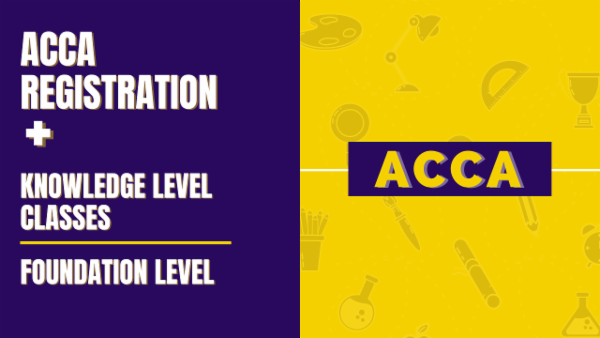 ACCA Registration + Knowledge Level / Foundation level Classes cover