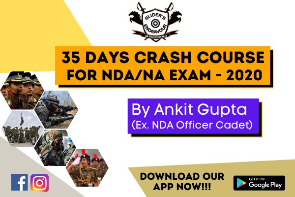 NDA/NA Exam - 2020   35 Days Crash Course   Live Interactive & Recorded Class cover