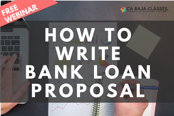 Recorded Video of Webinar on How to write Bank Loan Proposal cover