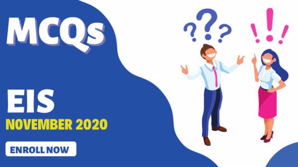 CA Inter EIS MCQ for November 2020 cover