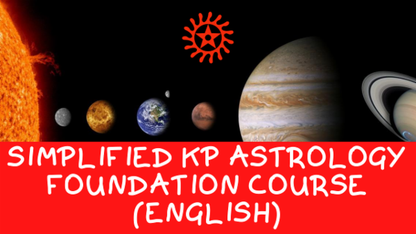 Simplified KP Astrology English Foundation Course cover