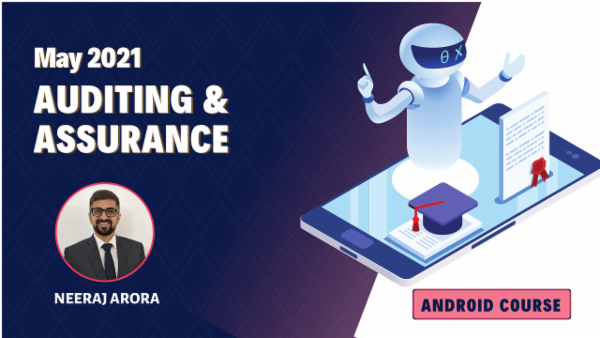 CA Inter Audit Online Classes For May 2021 by Neeraj Arora - Android App cover