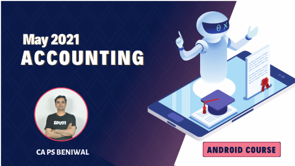 CA Inter Accounting Online Classes For May 2021 by CA PS Beniwal - Android App cover