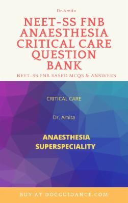 Anaesthesia Critical care NEET-SS Question Bank Revised 2nd edition cover