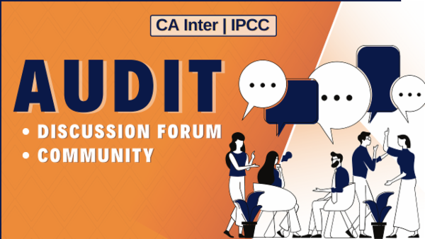 CA Inter/IPCC Audit Discussion Forum cover