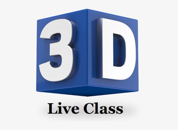 LIVE 1:1 CLASS - 3D Design cover